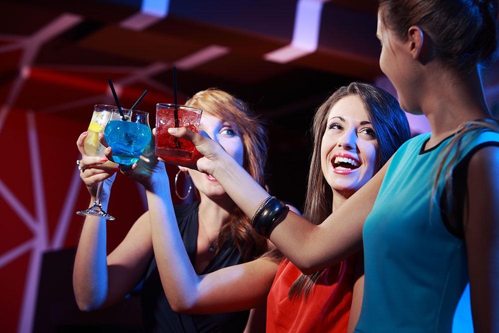 3 Women Enjoying Cocktails at Cellar Door in San Diego, CA
