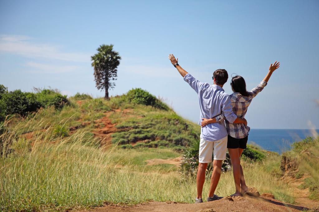 Young Couple Exploring Lake Calavera in Carlsbad, CA
