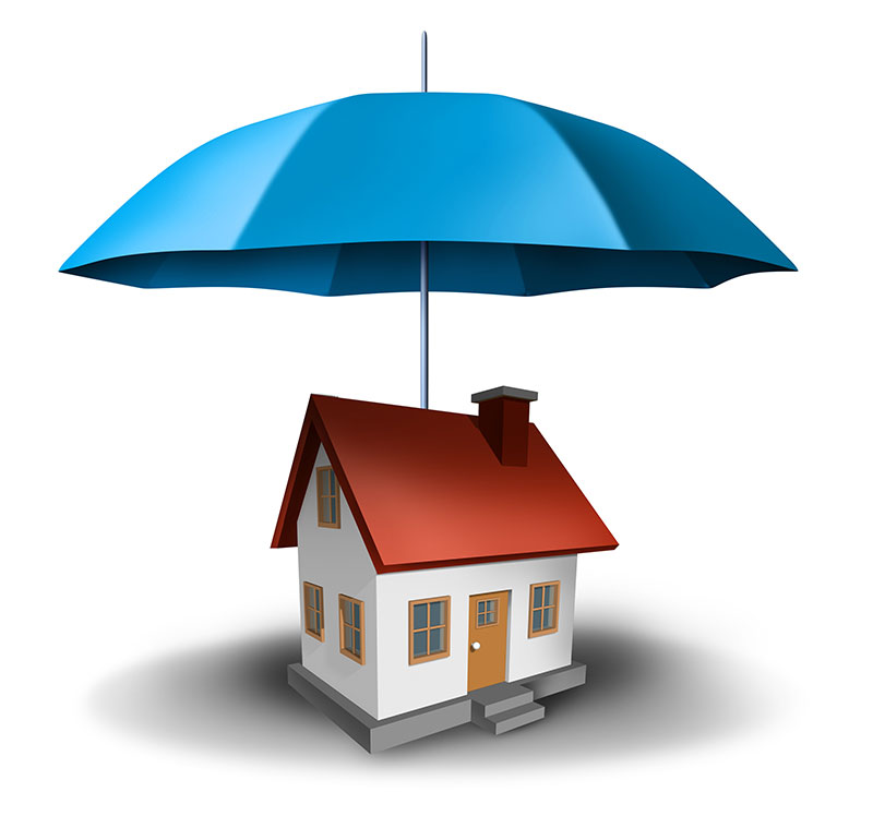 Umbrella Covering House | Insurance to Protect against Property Damage