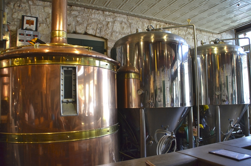 Beer Fermentation Tanks at Brewery in Placerville, CA