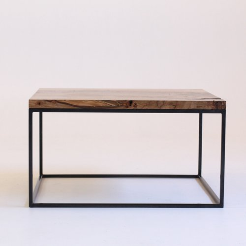 Birch and Steel Coffee Table from Reclamation Art + Furniture