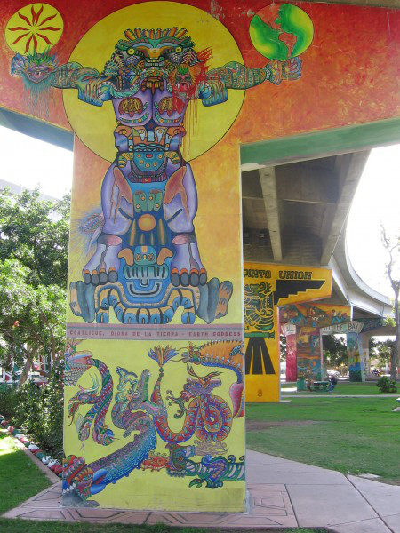 Murals at Chicano Park in San Diego, CA