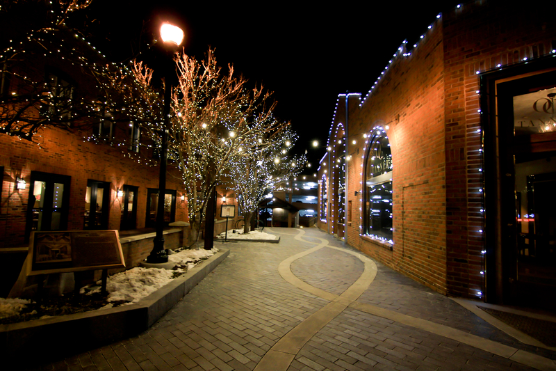 Night Time on Main Street in Park City, UT